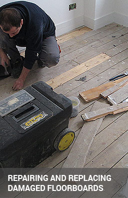 Repairing and replacing damaged floorboards