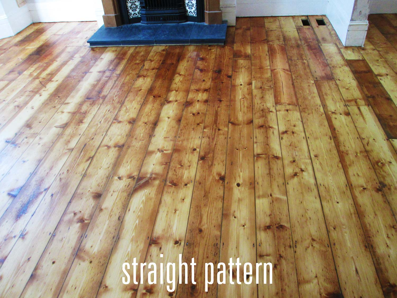 straight wood floor pattern
