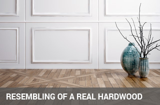 luxury vynil mimics hardwood