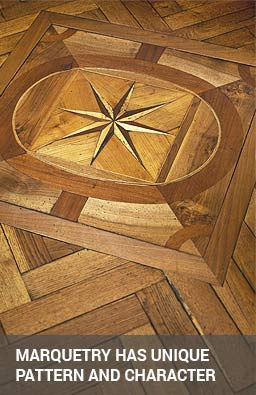 old marquetry has unique character