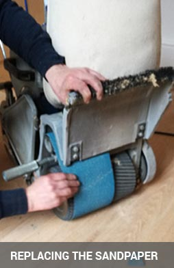 replacing an abrasive from the drum
