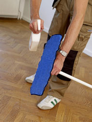 Maintenance routine for parquet flooring